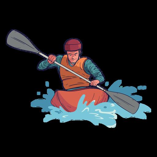 Personagem de rafting