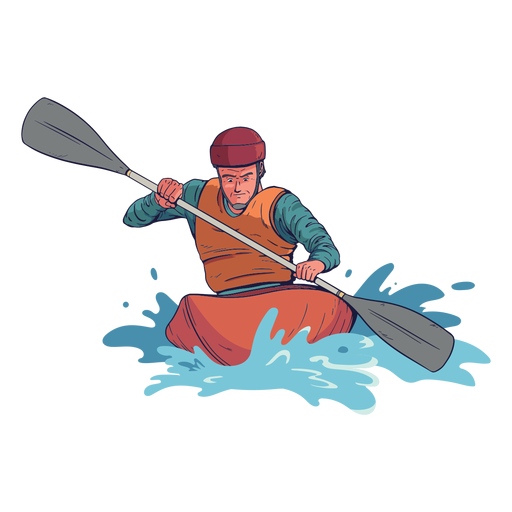Rafting character Transparent PNG
