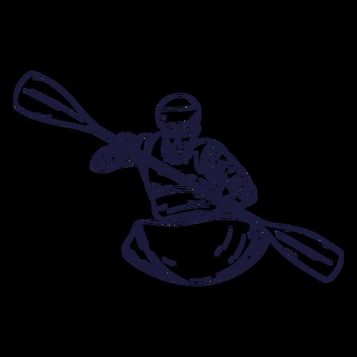 Rafting character hand drawn