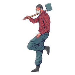 Relaxed lumberjack character