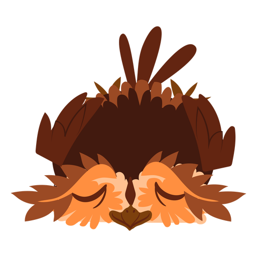 Relaxes owl illustration Transparent PNG