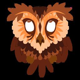 Ilustración de búho de ojos rojos