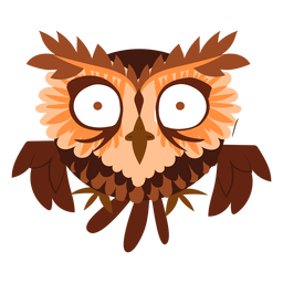Scared owl illustration