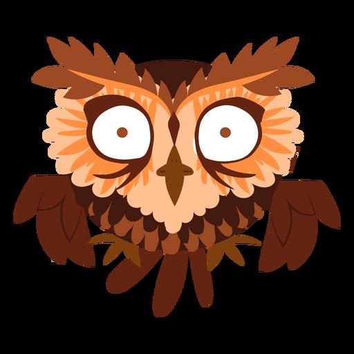 Scared owl illustration Transparent PNG
