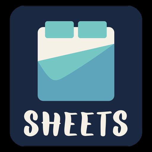Sheets label flat