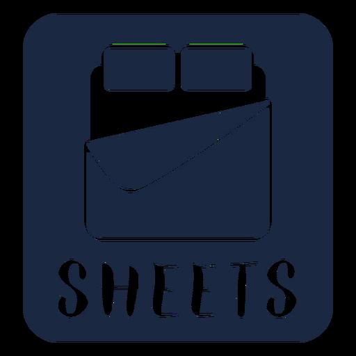 Sheets label blue