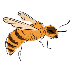 Side bee illustration