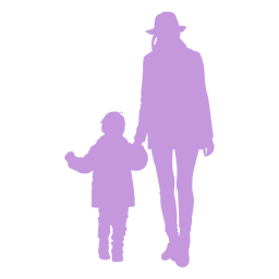 Silhouette mother and son