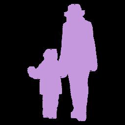 Silueta madre e hijo