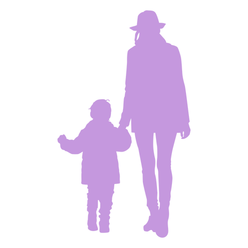Silhouette mother and son Transparent PNG
