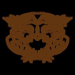 Smiling owl stroke