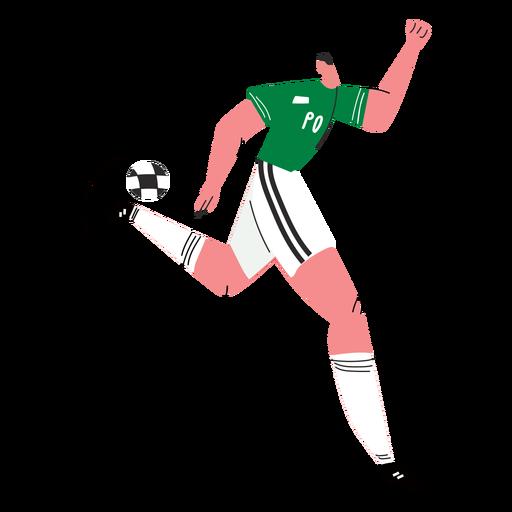 Soccer player character illustration