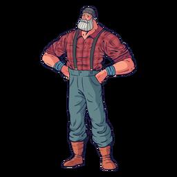 Standing lumberjack character