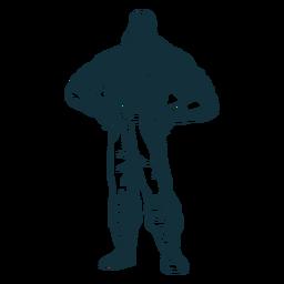 Standing lumberjack character blue