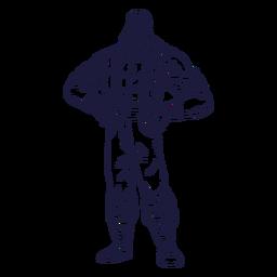 Standing lumberjack character hand drawn