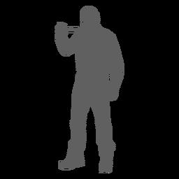 Standing lumberjack silhouette