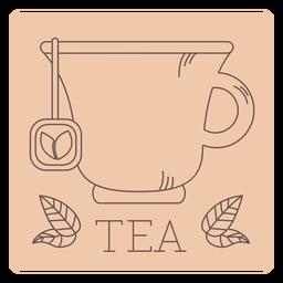 Tea label line
