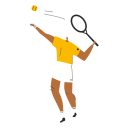 Personaje de hombre de jugador de tenis