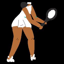 Personaje de mujer de jugador de tenis