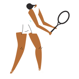 Tennis player woman character