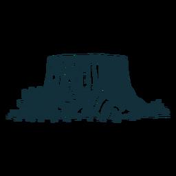 Tronco de árbol azul
