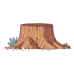 Tree trunk illustration