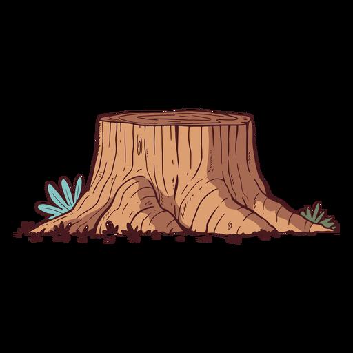Ilustración de tronco de árbol