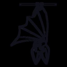 Upside down bat stroke