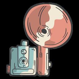Dibujado a mano flash de cámara vintage