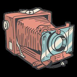 Mão de câmera vintage desenhada