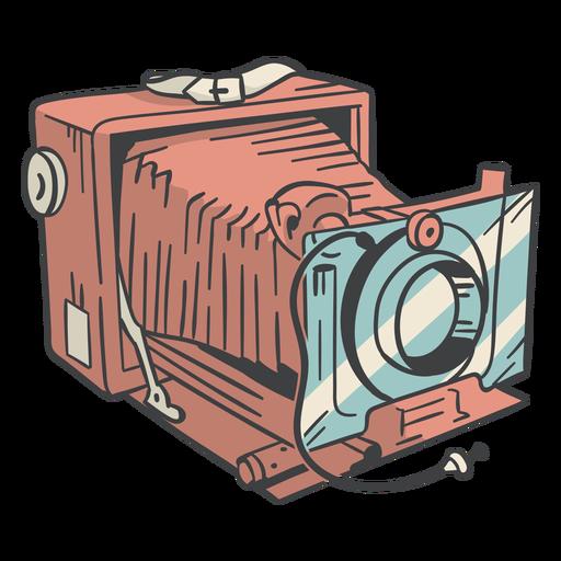 Dibujado a mano cámara vintage