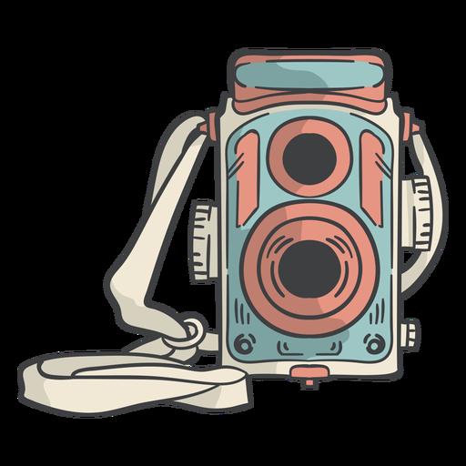 Vintage film camera hand drawn