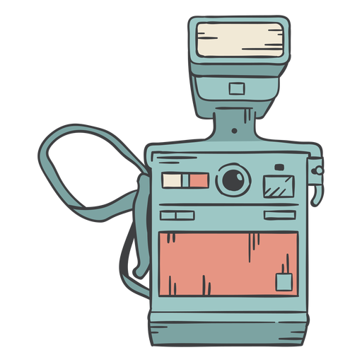 Dibujado a mano cámara polaroid vintage