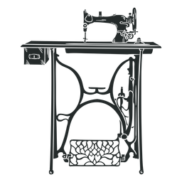 Vintage sewing machine table black
