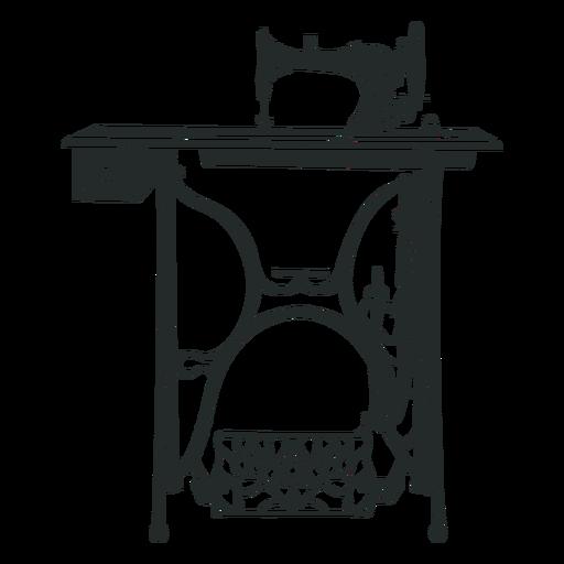 Mesa de m?quina de coser vintage negra