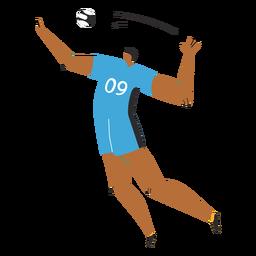 Personaje de jugador de voleibol