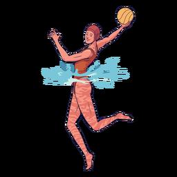 Personagem de jogador feminino de pólo aquático