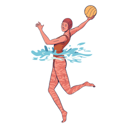 Waterpolo female player character