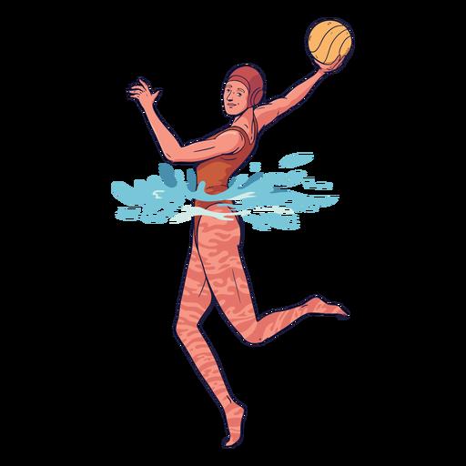 Jogador feminino Waterpolo