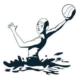 Waterpolo player character black and white