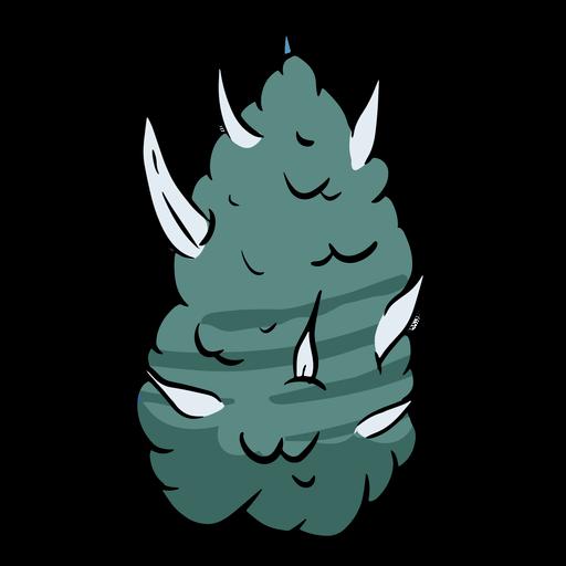 Ilustração de pepita de erva daninha