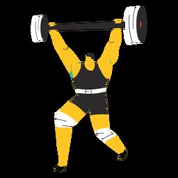 Personagem do levantador de peso