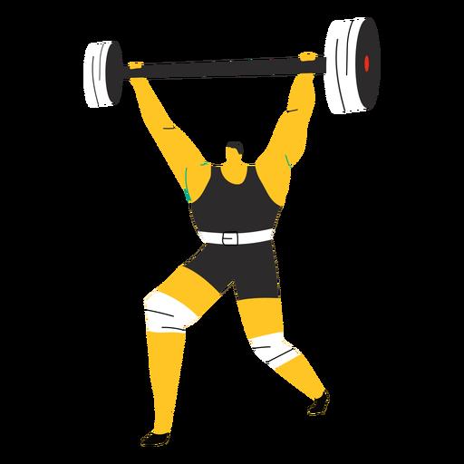 Personaje levantador de pesas