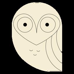 Lechuza blanca plana