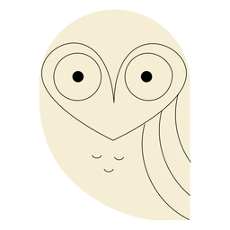 White barn owl flat