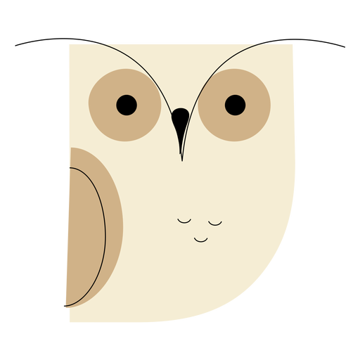 White owl flat Transparent PNG