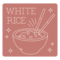White rice label line