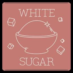 White sugar label line