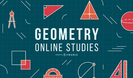 Geometrie Online Education Cover Design