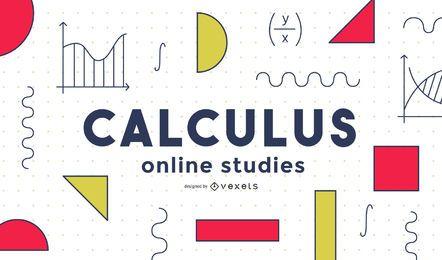 Diseño de portada de escuela de cálculo